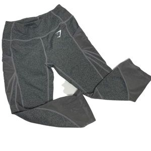 Gymshark Heathered Gray Crop with Mesh Details